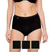 Pack of three black basic maxi briefs