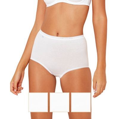 Pack of three white maxi brief