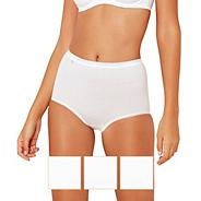 Pack of three white basic maxi briefs