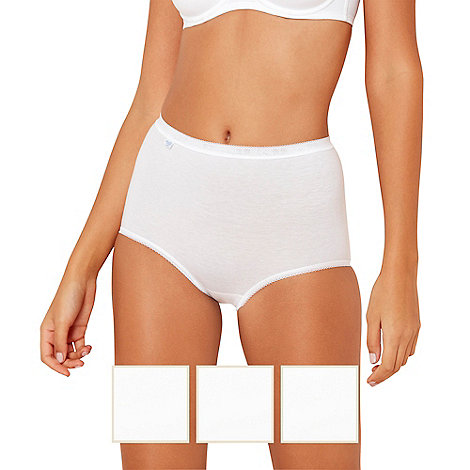 Sloggi - Pack of three white basic maxi briefs