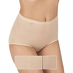 Sloggi - Pack of three natural basic maxi briefs