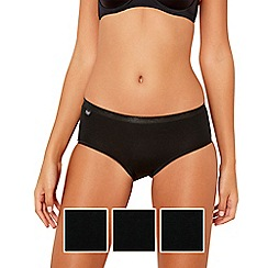 Sloggi - Pack of three black midi briefs