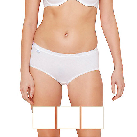 Sloggi - Pack of three white midi briefs