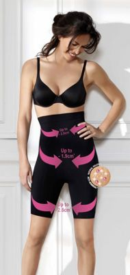 Black high waisted thigh slimmer