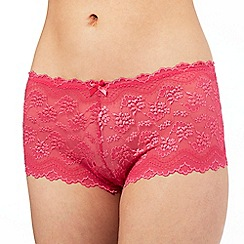 The Collection - Bright pink floral lace shorts