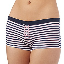 The Collection - Navy striped shorts
