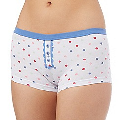 The Collection - White spotted shorts