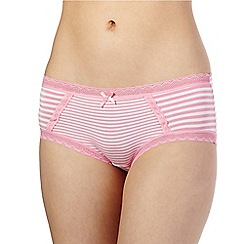 The Collection - Light pink striped print shorts