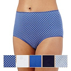 The Collection - Pack of five assorted floral full briefs