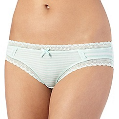 The Collection - Pale green striped brazilian briefs