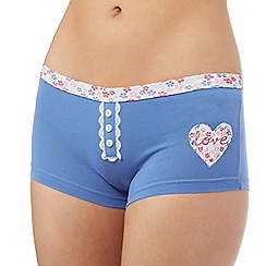 The Collection - Blue heart shorts