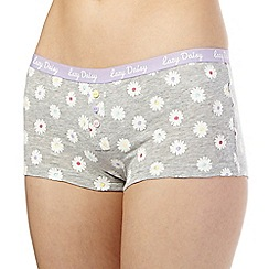 The Collection - Grey daisy print boxers