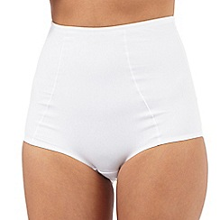 Debenhams - White shaping lace briefs