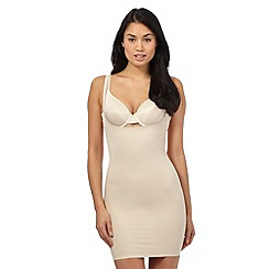Debenhams - Nude firm control 'Wear Your Own Bra' shaping dress slip