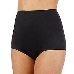 Debenhams - Black firm control low leg shaping briefs