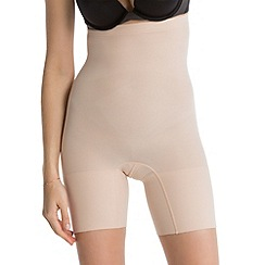 Spanx - natural high-waisted 'power' shorts