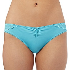 The Collection - Turquoise floral lace brazilian briefs