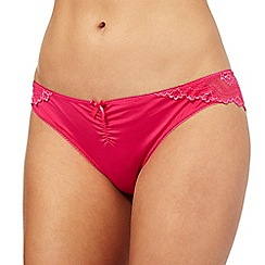 The Collection - Bright pink floral lace Brazilian briefs