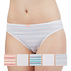 The Collection - Pack of five assorted patterned high leg shorts