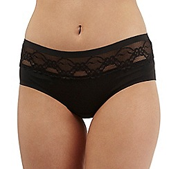 The Collection - Black lace trim invisible shorts