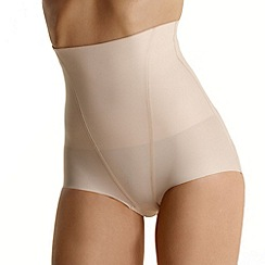 Debenhams - Natural 'Invisible' high waist low leg shapewear pants