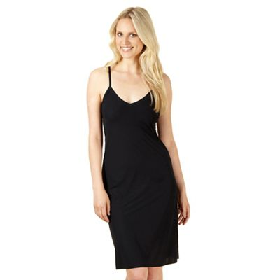 Black longer length invisible slip