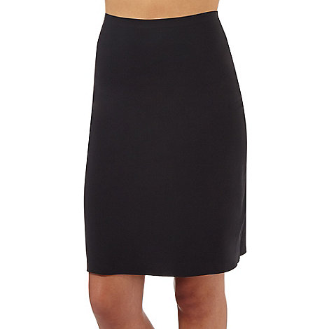 Debenhams - Black longer length half slip