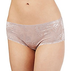 The Collection - Taupe floral lace shorts