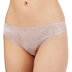 The Collection - Taupe floral lace Brazilian briefs