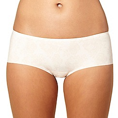 Debenhams - Ivory lace printed invisible shorts