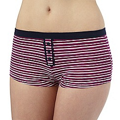 The Collection - Purple and white striped print shorts