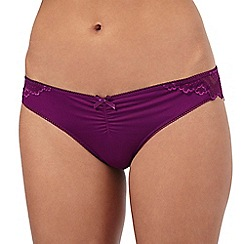 The Collection - Purple lace Brazilian briefs