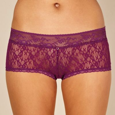 Light purple lace shorts