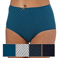 The Collection - Pack of five turquoise full briefs