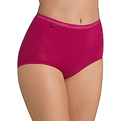 Sloggi - Pack of three pink basic maxi briefs