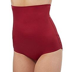 The Collection - Dark red medium control high waist briefs