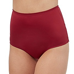 The Collection - Dark red medium control low waist briefs