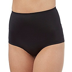 The Collection - Black medium control low waist briefs