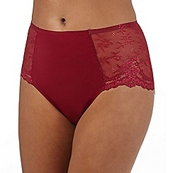 The Collection - Red lace invisible midi brief