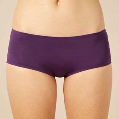 Dark purple lace trimmed Invisible shorts