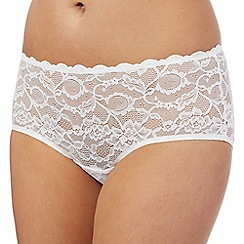 Debenhams - White lace short briefs