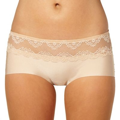 Natural lace trimmed Invisible shorts