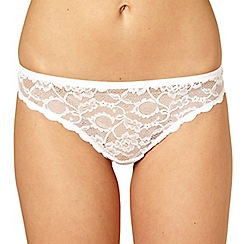 Debenhams - White invisible all over lace thong