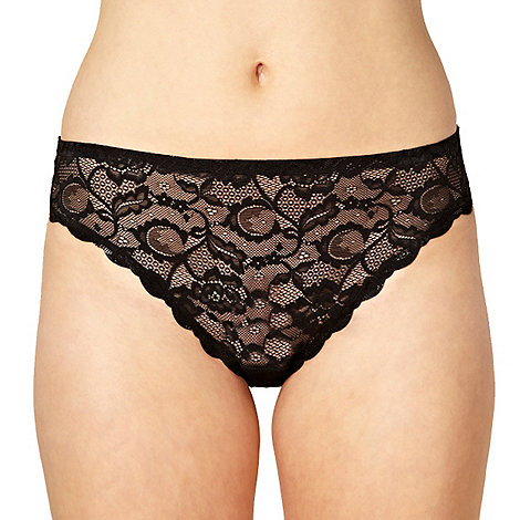 Debenhams - Black invisible high leg lace briefs