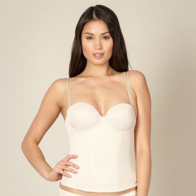 Natural low back firm control bustier