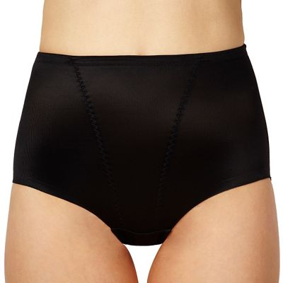 Black low leg briefs