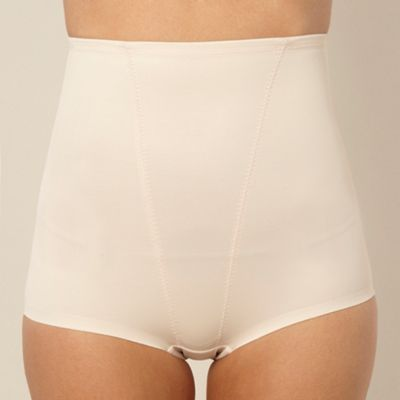 Natural Firm Control high waist low leg briefs
