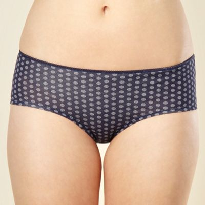 Pack of five navy dot flower shorts