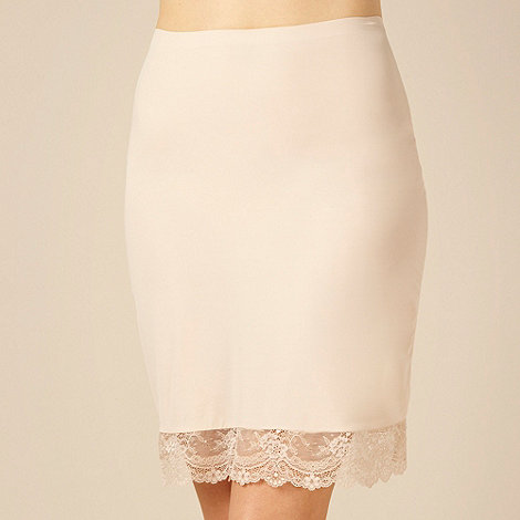 Debenhams - Natural lace trimmed +Invisible+ half slip