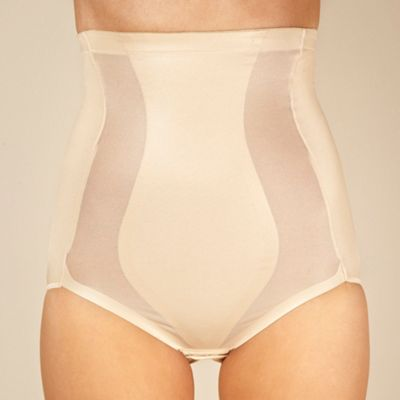 Natural high waisted shaper briefs